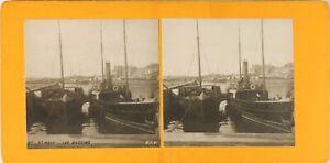 FRANCE-Saint-Malo-Les-Bassins-Photo-Stereo-Vintage-Argentique-PL60L1248