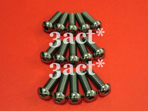 Ti Disc Brake Rotor Bolts 15pcs KTM M8 x 25mm T40-1.25 Pitch Titanium