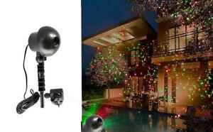 Illuminazione Esterna Natale : Proiettore laser illuminazione esterna natale picchetto puntini