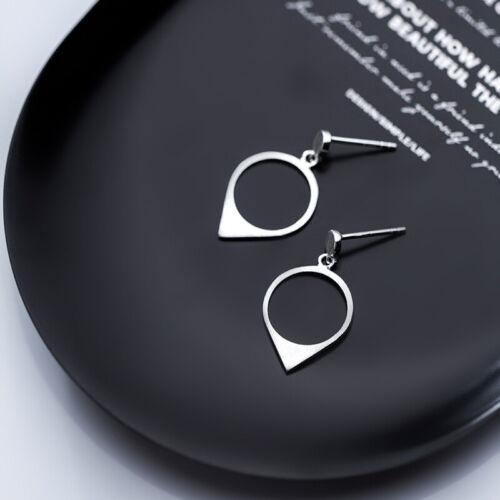 Ohrstecker Ohrhänger Tropfen Kreis echt Sterlingsilber 925 Damen Ohrringe