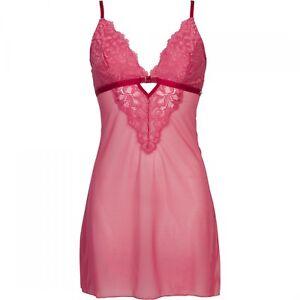 Trasparente Short Rosso Lace Nuovo Sapph da notte Nightdress Camicia Ladies Tulle qx4wA46R7