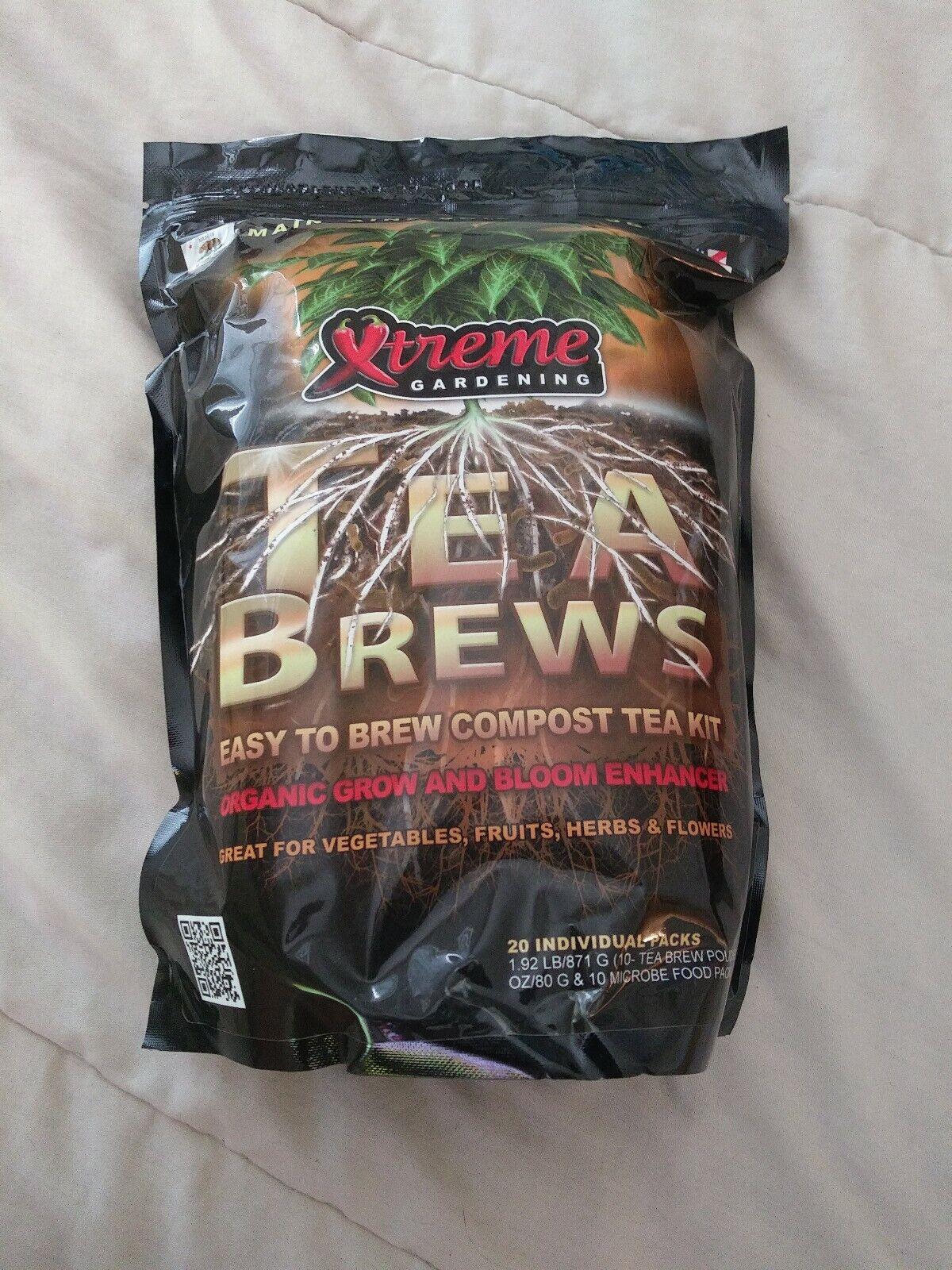 Xtreme Jardinería Té Brews 10g paquetes 10 ct raíces Omri Mykos azos Compost