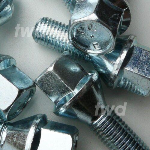 12MM LUG STUD NUT SCREWS 20 x ALLOY WHEEL BOLTS LOCKS FOR BMW H4b M12x1.5