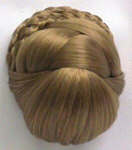 WOMENS-BRAIDED-PRE-STYLED-ELEGANT-BUN-UPDO-DOMED-BASE-CHIGNON-PAGEANT-HAIRPIECE