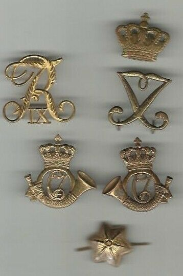 Militær, Regimentsmærker blandet