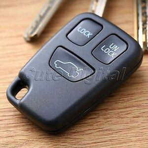 remote key fob shell case cover 3 button for volvo s70 v70 c70 s40