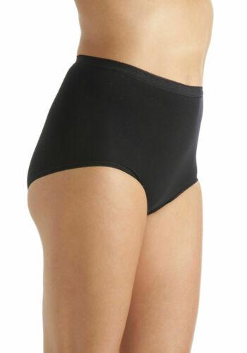 new Ladies 3,6 Maxi Lace Plain Full Briefs Knickers Underwear Cotton Size 12-22