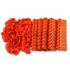 Orange Plastic 201 300 Number Animal Livestock Ear Tag Set For Goat Sheep Pig