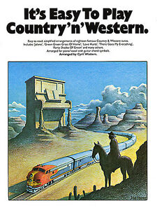 Easy-To-Play-Country-n-Western-Learn-Beginner-PIANO-Guitar-Music-Book