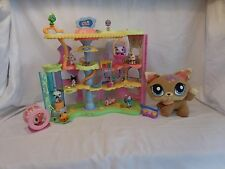 LPS Littlest Pet Shop Round and Round Pet Town Playset + Plush Dogs + Pets +