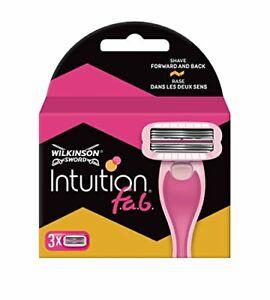 Wilkinson Sword Intuition fab Rasierklingen für Damen Rasierer 3 St