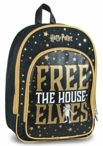 OFFICAL HARRY POTTER DOBBY IS A FREE ELF BACKPACK RUCKSACK SCHOOL BAG BNWT