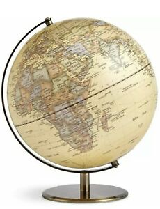 36cm Educational World Globe Large Map Rotating Antique Gold By M&S New Gift