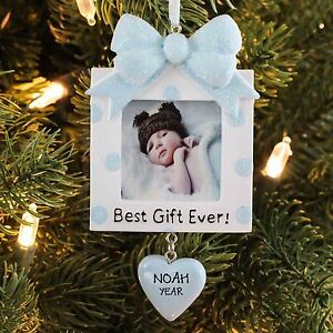 Best Gift Ever Baby Boy Present Frame Personalized Christmas Tree