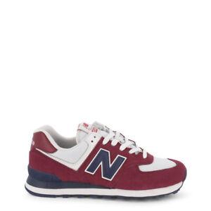 NEW-BALANCE-SCARPE-UOMO-Sneakers-basse-ML574ESW-ROSSO-RED-DECONSTRUCTED-ORIGINAL