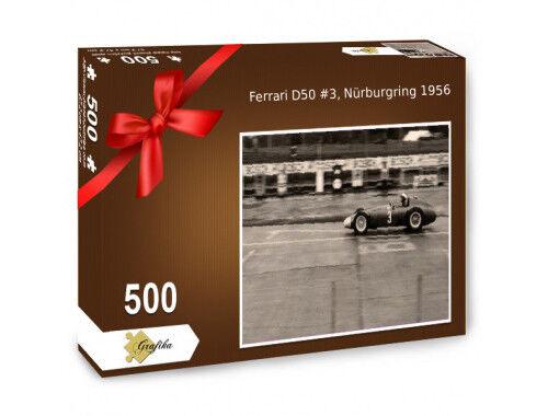 Ferrari D50 Castellotti, Nürburgring 1956, Puzzle 500 Teile, 47,5 x 31,5 cm