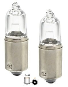 2-x-H10W-BA9S-12V-Clear-White-Halogen-Lampen-fuer-BMW-E39-E60-E61
