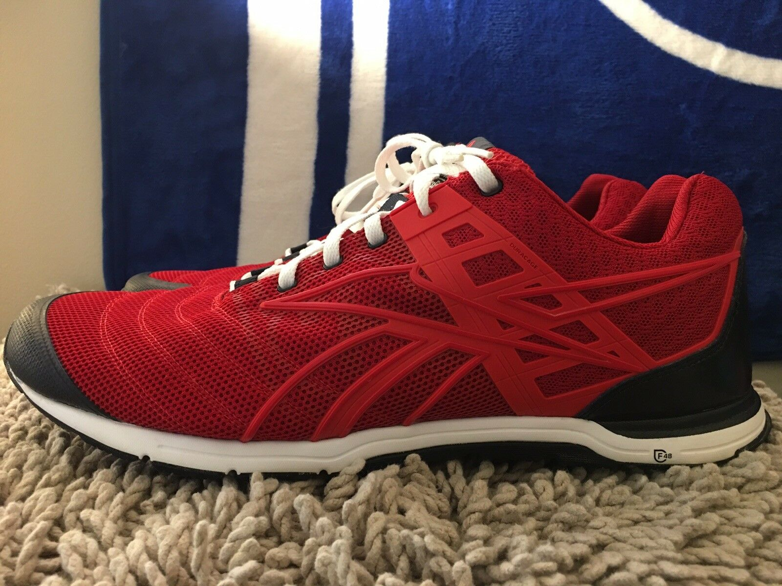 Reebok Crossfit Nano Training shoes, V60157, Red   White, Men's Size 12