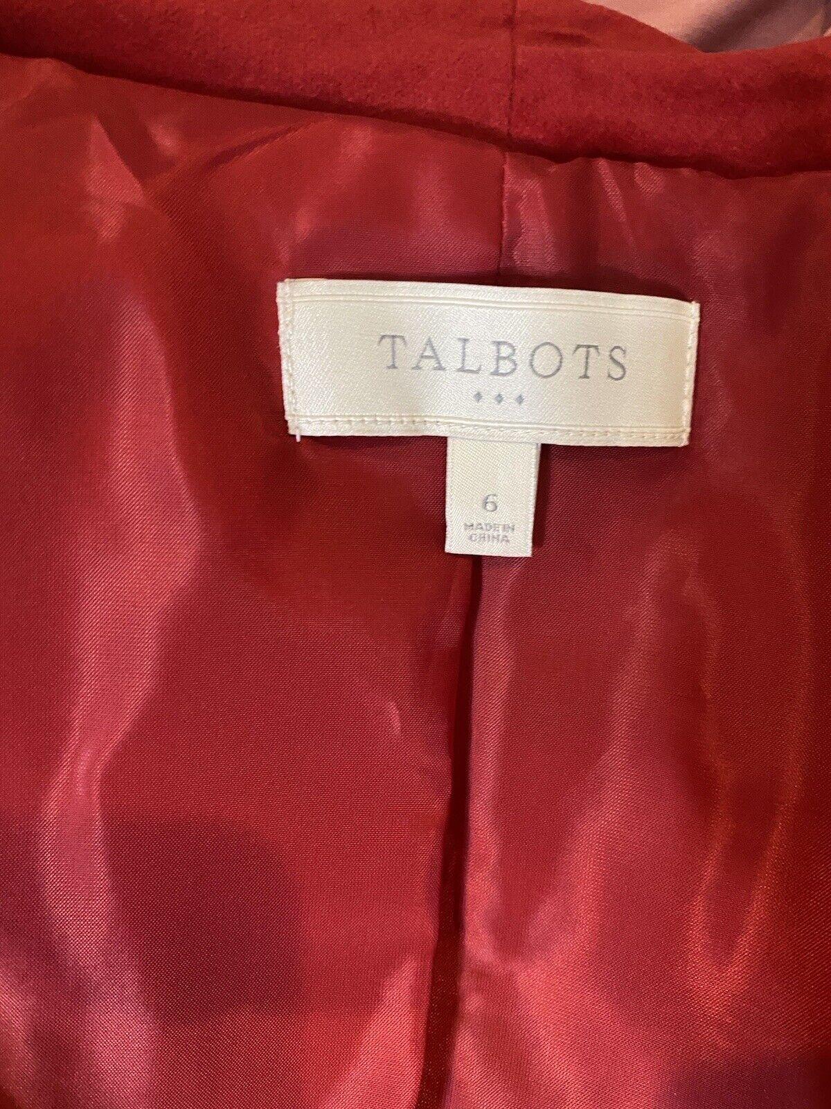 Talbots Red Velvet Blazer 4 - image 7