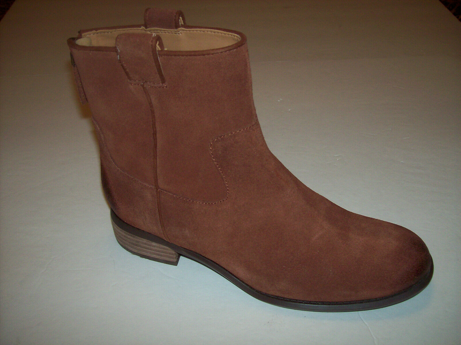 "NWOB NINE WEST ""JARETH"" women's rust brown suede leather ankle boots 5.5 M"