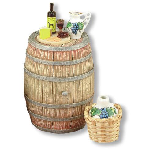 Reutter porzellan sauvignon décoré//wine barrel decorated poupée 1:12