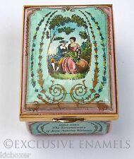 Halcyon Days Enamels Tercentenary Of Watteau Four Seasons LE Enamel Box