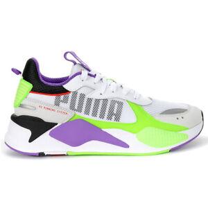 Puma Men's RS-X Bold Puma White/Green Gecko/Royal Lilac Sneakers 37271502 NEW!