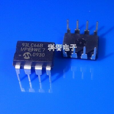 50 PCS 93LC66B-I//SN SOP-8 93LC66BI 93LC66 4K Microwire Compatible Serial EEPROM