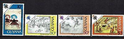 Kinder Angenehm Zu Schmecken Befangen 565-568 Postfrisch Selbstbewusst Gehemmt Unsicher Verlegen Guyana Minr