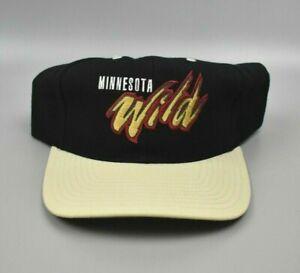 Minnesota-Wild-Twins-Enterprise-Vintage-90s-Spell-Out-Snapback-Cap-Hat-NWT