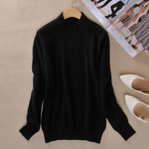 Womens Cashmere Loose Pullover Long Sleeve Solid Knit Sweater Cardigans Jumpers