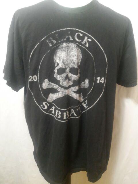 Black Sabbath 2014 Concert Tour T-Shirt Skull & Crossbone Mens Size XL EUC