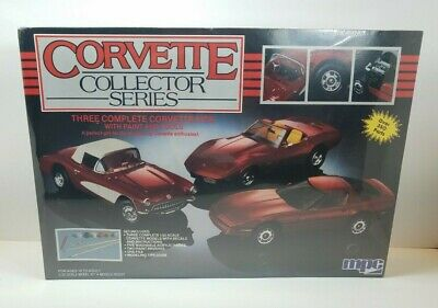 Ertl 1/25 Corvette Collector Series # 6381 '57 '75 '85 Factory Sealed Rich And Magnificent Toys & Hobbies 1989 Mpc