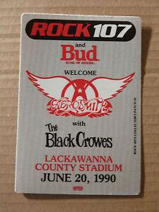 AEROSMITH-THE-BLACK-CROWES-Satin-Cloth-Backstage-Tour-Pass-1990
