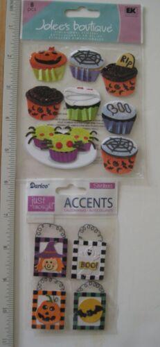 Witches /& Cupcakes*  $9 Val #4 NEW Adhesive Embellishments *Halloween 3 Pks