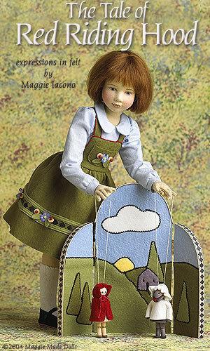 04 Maggie iocono's rojo Riding Hood 25 70 Muñeca de fieltro