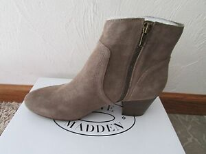 f256cb312ce NEW STEVE MADDEN PORCHA TAUPE SUEDE ANKLE BOOTS WOMENS 6 BOOTIES