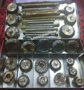 """21 VALVE SEAT CUTTER SET HIGH CARBON STEEL 1.3//16/"""" TO 2.1//8/"""" @$"""
