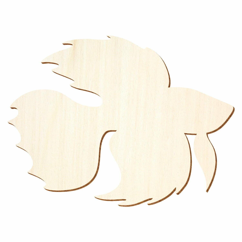 Holz Zierfisch, Betta Fisch - 3-50cm Breite - Basteln Deko