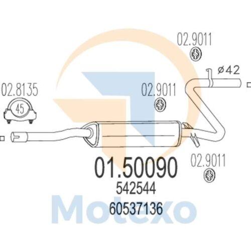 Quad.Oro 88bhp 04//83-12//89 MTS 01.50090 Exhaust ALFA ROMEO 33 1.4 S