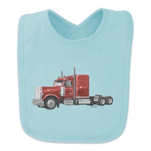 Semi Tractor Trailer Truck Trucker Baby Bib