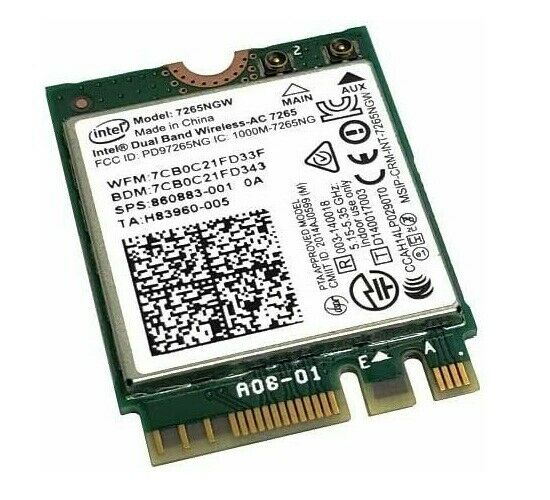860883-001 7265NGW Hp Wireless Wlan Card For ChromeBook 11-AE010NR Notebook New