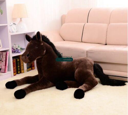 2019 Giant Soft Horse Plush 130cm X 60cm Emulational Stuffed Animals Toys Doll