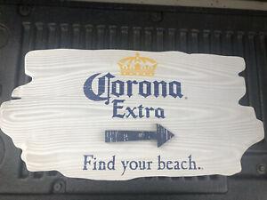 Corona Extra Find Your Beach Arrow Beer Bar Pub Wood Sign ...