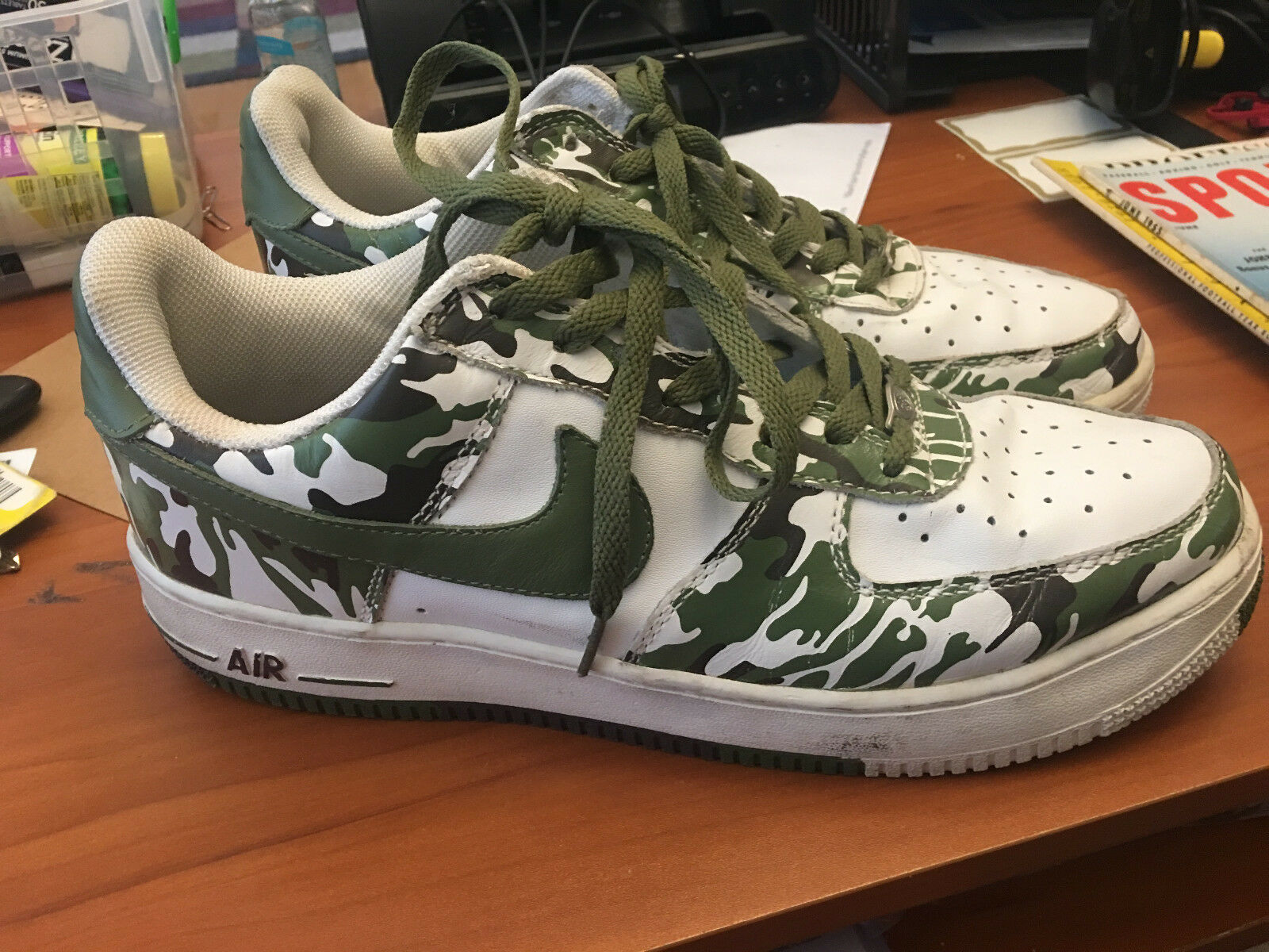 low priced a1fff 1771d NIKE AIR FORCE SHOES MENS SIZE 11 ARMY FATIGUE CAM CAMOUFLAGE 306353-131