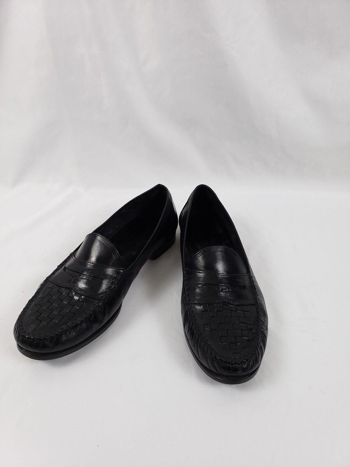 Allen Edmonds Barbados penny loafers black sz 10d