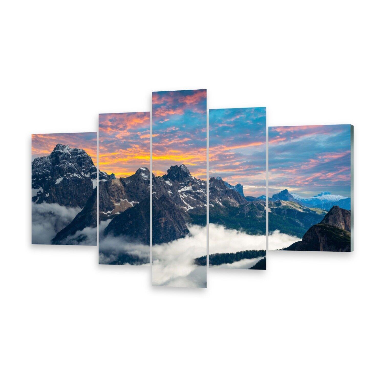 Mehrteilige Bilder Glasbilder Wandbild Italien Dolomiten