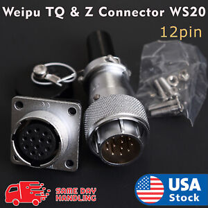 Weipu-TQ-amp-Z-Aviation-Plug-12Pin-20mm-Ws20-Metal-Male-Female-Panel-Connector-Ws