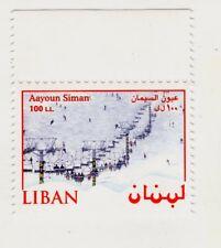 TIMBRE LIBAN LEBANON AAYOUN SIMAN TELESIEGE SKI NEIGE  100 LL NEUF UNC