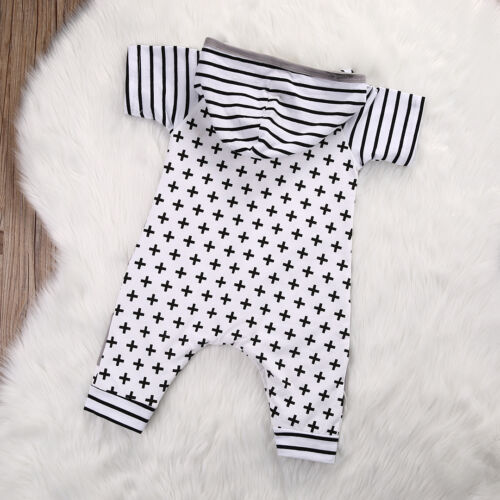 Toddler Kids Baby Girl Boy Cotton Romper Jumpsuit Outfits Short Sleeve Clothes
